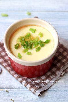 Chinese steamed egg recipe: egg, scallion, sesame oil