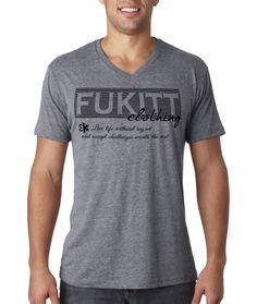 Stenciline Design on a V-Neck T-Shirt by Fukitt Clothing #fukitt #inspiration #inspirational #motivation #motivational #positive #fashion #apparel #clothing #suicideprevention