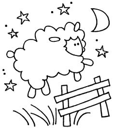 sleeping sheep coloring pages - photo#2
