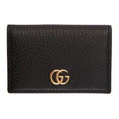 359a4e13799 Gucci Designer Black Petite Marmont Card Holder Gucci Designer