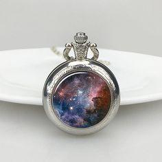 Galaxy Nebula Pocket Watch