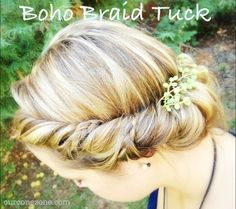 10 minute boho hairstyle tutorial, so easy! Anyone can do it! Perfect for fall. Step by step instructions.