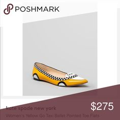 Kate Spade go taxi flats I will have these for sale March 8-11 (when I'm back in Michigan for a week).  I will lower the price when I'm able to ship. kate spade Shoes Flats & Loafers