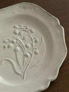 freshfarmhouse:Plate created by Nathalie Lété for Astier de Villatte (Paris)