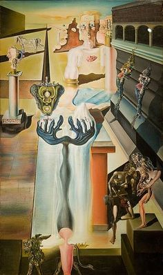 The Invisible Man - Dali Salvador Salvador Dali Gemälde, Salvador Dali Paintings, Optical Illusion Paintings, Optical Illusions, Pablo Picasso, Dali Artwork, Invisible Man, Surrealism Painting, Spanish Artists
