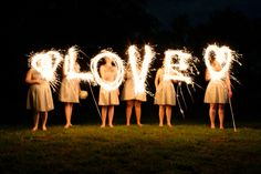 Sparklers, Wedding at Chandler's Garden, by Dallas Wedding Photographer Stephanie Brazzle Photography