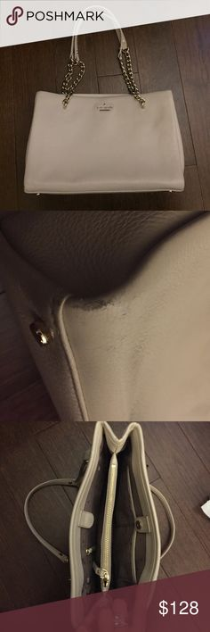 Cream Kate Spade Emerson Bag Cream with gold chain strap detail. Perfect everyday shoulder bag! Snap closure and inside zipper pouch. kate spade Bags Shoulder Bags