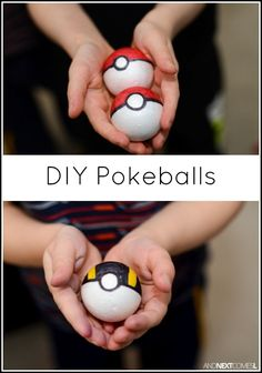 How to make DIY Pokeballs for kids - a great homemade toy and gift idea for Pokemon fans from And Next Comes L