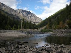 Wenatchee River, west of Leavenworth, Washington (USA) - my brother and I called this valley, the Valley of the Gods - it's even better in person