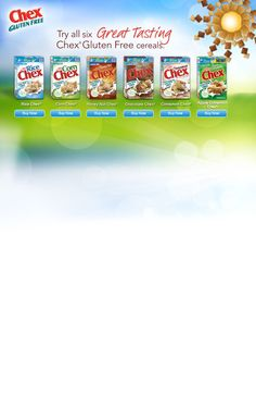 Which Chex® cereals are gluten free?  Honey Nut Chex®, Chocolate Chex®, Cinnamon Chex®, Apple Cinamon Chex®, Rice Chex®, and Corn Chex® are all gluten free. And not only are they gluten free, but each gluten free variety also has more than 8 grams of whole grain per serving, and less than 10 grams of sugar.