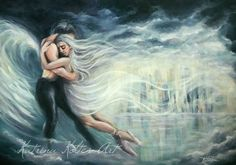"""""""Dancing with Angels"""" acrylic painting by katrina koltes"""