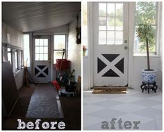 before-after concrete painted floor