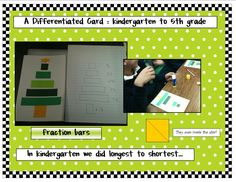 This is a great card to do across all grade levels and the kids loved making it. In kindergarten I cut the strips out ahead of time in shades of green. The base is a rectangle and the star is a square that they cut on the diagonal.