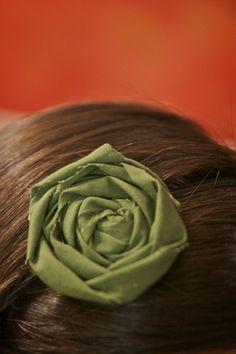 Rolled Fabric Flower Headband
