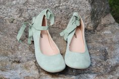 Repetto Mint Green Suede Pistache Cheville Ballerine Lace Up Ballet Flat New In   eBay