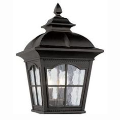 Cottage 1-Light Matte Black LED Outdoor Wall Sconce-TN-75838 - The Home Depot