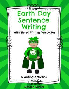 Earth Day Sentence Writing