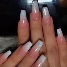 Top 32 acrylic nail designs of Page 28 of Creative Vision Design ., Top 32 acrylic nail designs of Page 28 of Creative vision design # ideas # nails # nail ideas. Nails Now, Aycrlic Nails, Swag Nails, Matte Nails, Stiletto Nails, Nail Design Glitter, Glitter Ombre Nails, Coffin Nails Glitter, Clear Nails With Glitter