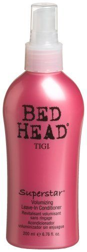 TIGI Bed Head Superstar Volumizing Leave-In Conditioner, 6.76 Ounce by TIGI. $12.75. 6.76-ounce bottle. Conditions, detangles and adds volume. Protein complex repairs and adds moisture. Provides UV color protection. SUPERSTAR VOLUMIZING LEAVE-IN CONDITIONER 6.76 OZ Design House: Tigi Fragrance Notes: Shampoos Conditioners And Styling Tools For All Lifestyles. According To Tigi You Must Have A Sense Of Humour To Use Their Products. Everything Needed For The Latest Sty...