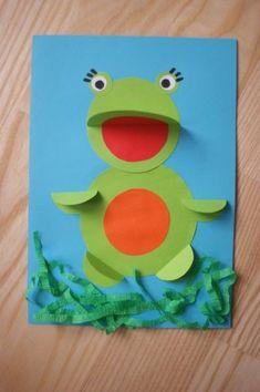 żabka wiosna origami prace plastyczne przedszkolaki