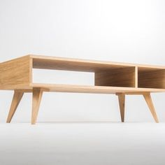 Modern coffee table media console entertainment center made image 2