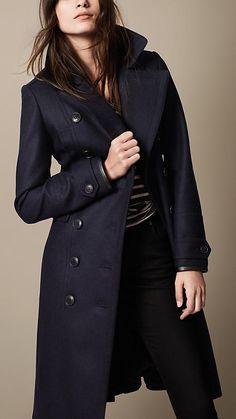 Peacoat/Coat aus einer Wollmischung im Military-Stil mit herausnehmbarem Futter | Burberry