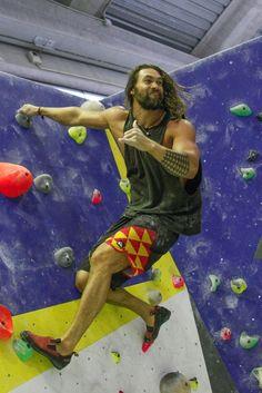 Jason returned for some more rock climbing.