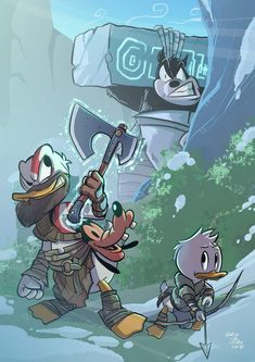 Duck of War Disney Pixar, Disney Characters, Dragon Age Characters, Monster Hotel, Kobe Bryant Pictures, Kratos God Of War, Mundo Dos Games, Video Game Posters, Best Gaming Wallpapers