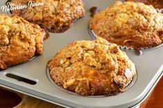Yogurt Banana Oat Muffin | Healthy Recipe | Only 185 Calories | For MORE RECIPES, fitness & nutrition tips please SIGN UP for our FREE NEWSLETTER www.NutritionTwins.com