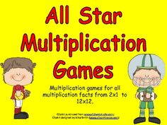 This file has game-boards for students to practice all multiplication facts from 2x1 to 12x12. Students choose a gameboard for the group of facts (2s, 3s, 4s, up to 12s) that they need to practice. During his/her turn, the student either rolls the dice (a standard pair of dice or a 12-sided die) or chooses a card from the pile. They multiply that number by the number on the game-board. They cover the answer to the problem on their game-board. $