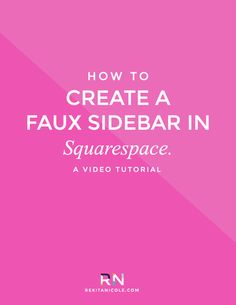 How to Create a Faux Sidebar in Squarespace