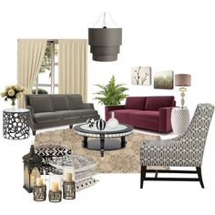 I Like The Idea Of Bringing Some Grey Black And Cream We Already Have Burgundy Couch
