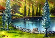 Zarros water Heraclion Crete acrylic on canvas