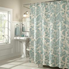 23+ Elegant Bathroom Shower Curtain Ideas, Photos, Remodel and Design #showercurtain