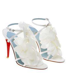 white christian louboutin shoes