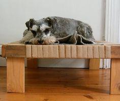 DIY off floor dog bed