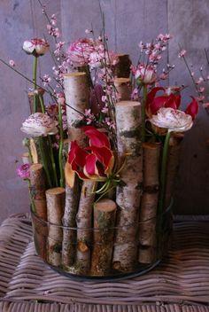50 beautiful pictures for the best flower arrangement - flowers Jute Flowers, Diy Flowers, Floral Flowers, Flower Vases, Vases Decor, Plant Decor, Bouquets, Deco Floral, Art Floral