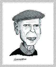 Ernesto Treccani, 1920-2009, pittore e incisore. Direttore della rivista Corrente, partecipò alla Resistenza e fu esponente del neorealismo italiano. La prima personale nel 1949, nella galleria il Milione a Milano. Fu interprete del paesaggio urbano milanese. #AlbumMilano
