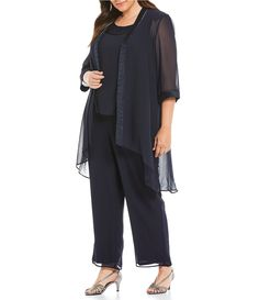 Whether you are a mother or grandmother of the bride, groom, or getting RSVP-ready, celebrate your upcoming occasion in a stunning mother of the bride dress from Dillard's. Mother Of The Bride Plus Size, Trendy Clothes For Women, Straight Leg Pants, Dillards, Fashion Dresses, Gowns, Sleeves, 3 Piece, Scoop Neck