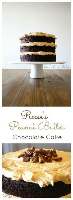 Reese's Peanut Butter Chocolate Cake | livforcake.com