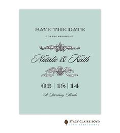 Toulouse Save The Date Card