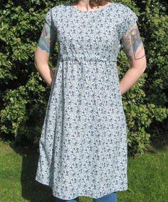 blue rowan fabric dottie angel dress