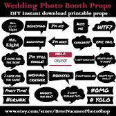 Image result for some ideas photo booth wedding props