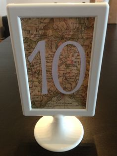 map table numbers Found on Weddingbee.com Share your inspiration today!