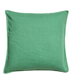 Cushion cover in linen | Verde | Home | H & M MX