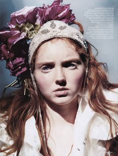Lily Cole by Arthur Elgort for UK Vogue November 2004