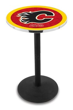 Calgary Flames Round-Base Bar Table