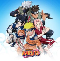 (clockwise from bottom middle) Naruto, Sasuke, Kakashi, Iruka, and Sakura Anime Naruto, Naruto Shippuden, Naruto Kakashi, Manga Anime, Naruto Team 7, Boruto, Naruto Family, Naruto Wallpaper, Naruto English