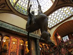 A David Cerny's tour of Prague - the controversial art of David Cerny in pictures from Prague. Prague Hotels, Travel Guide, Lion Sculpture, David, Batman, Tours, Statue, Pictures, Art