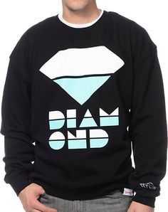 Diamond Supply Retro Black & Mint Crew Neck Sweatshirt at Zumiez : PDP. DIAMONDD is my best friend  :)